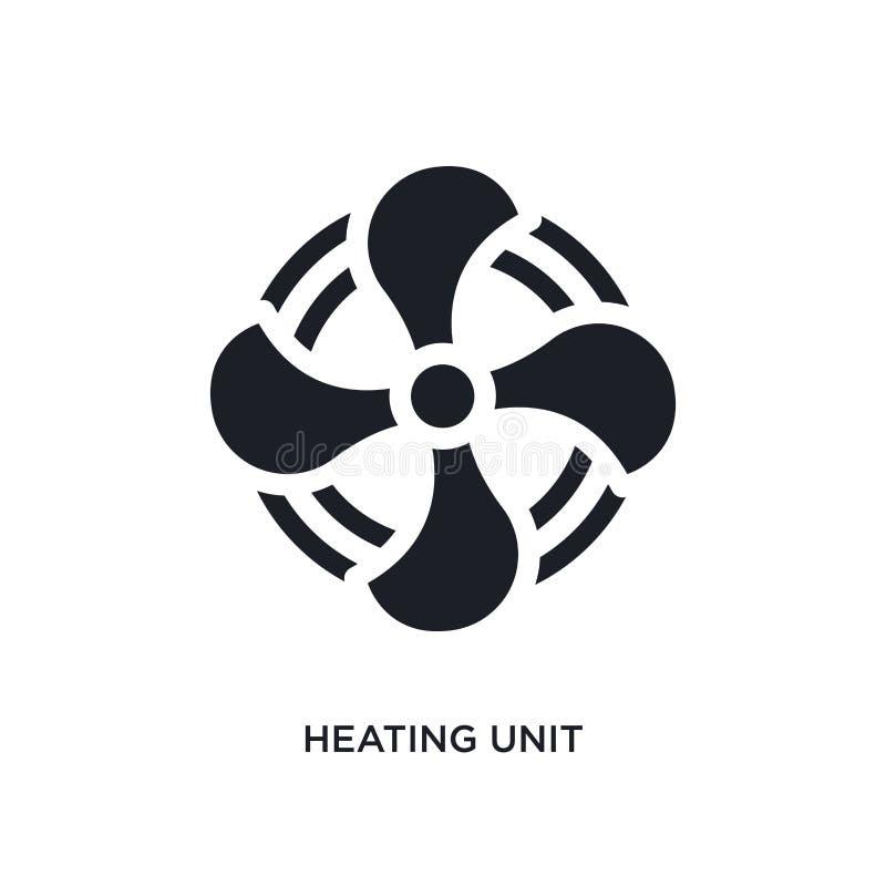 icône d'isolement noire de vecteur de dispositif de chauffage illustration simple d'élément des icônes de vecteur de concept de m illustration de vecteur