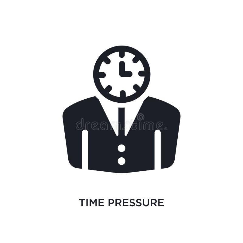 icône d'isolement noire de vecteur de pression de temps illustration simple d'élément des icônes de vecteur de concept de gestion illustration stock