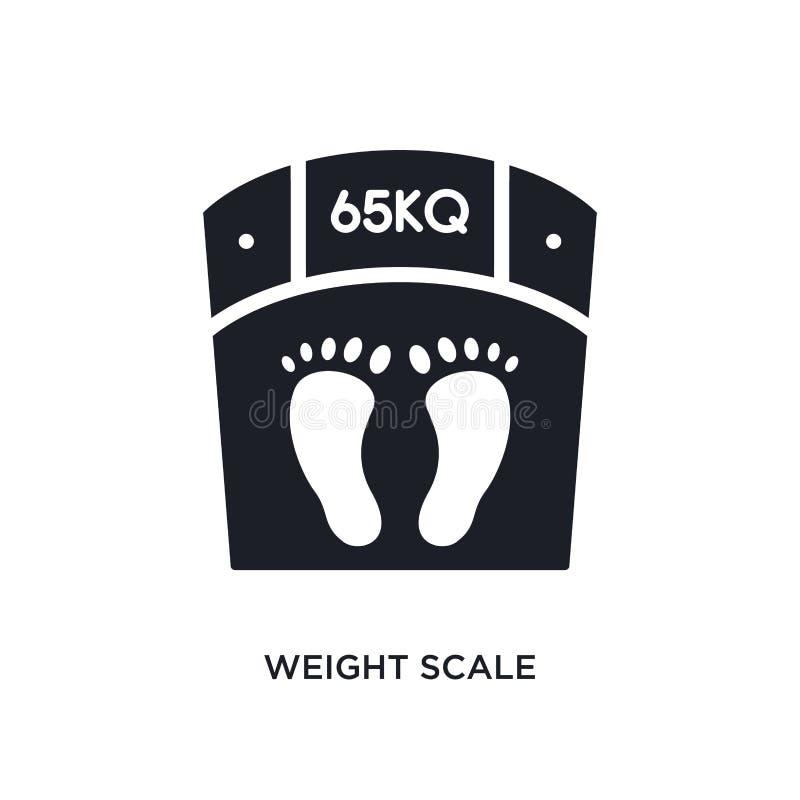 Icône d'isolement par échelle de poids illustration simple d'élément des icônes de concept d'équipement de gymnase symbole editab illustration stock