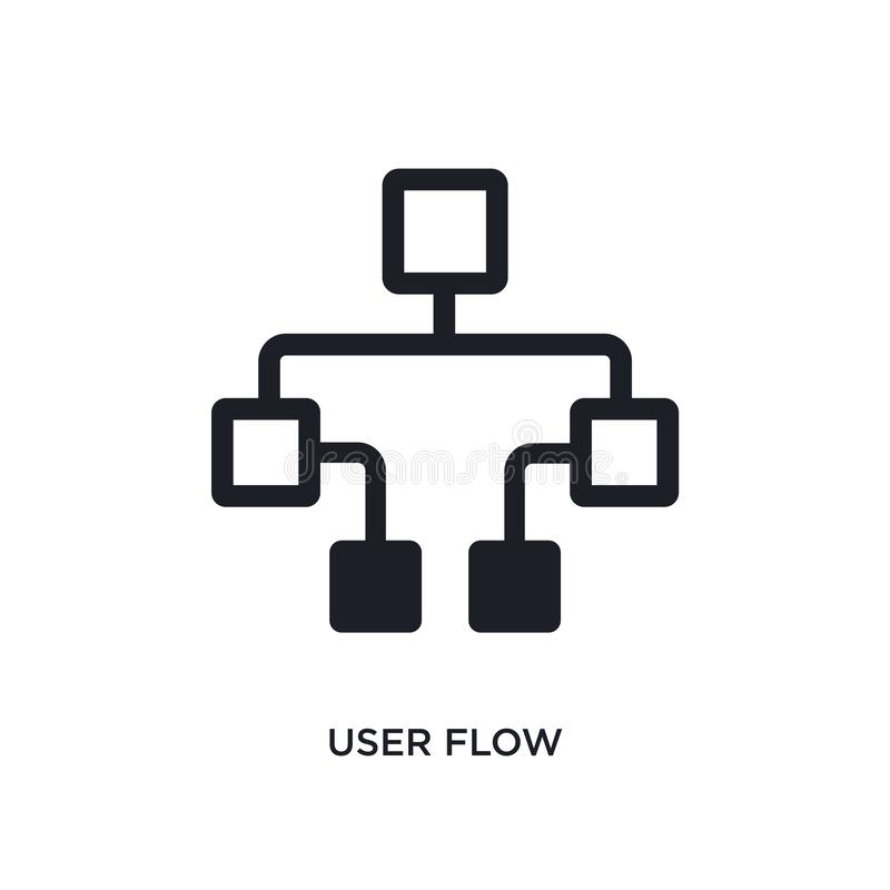 icône d'isolement par écoulement d'utilisateur illustration simple d'élément des icônes de concept de technologie conception edit illustration de vecteur