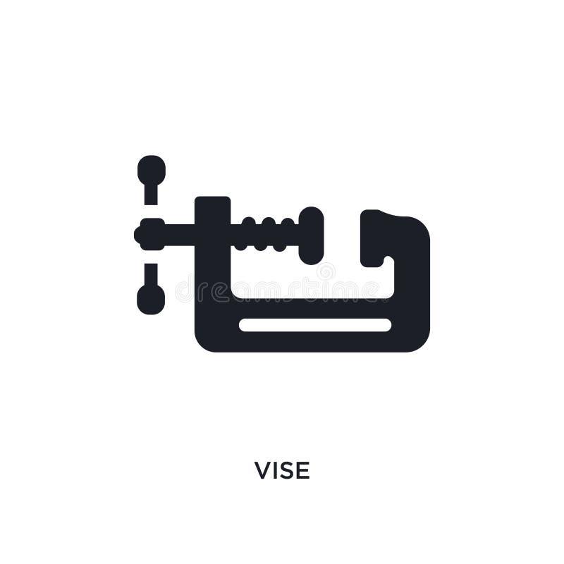 icône d'isolement par étau illustration simple d'élément des icônes de concept de construction conception editable de symbole de  illustration de vecteur