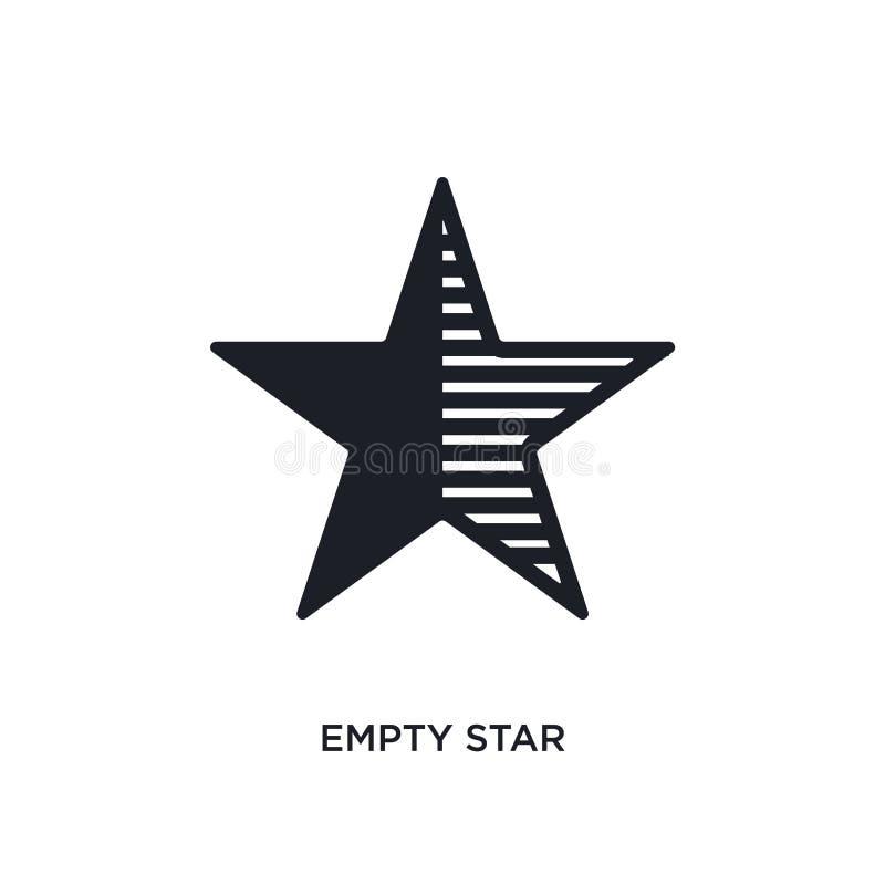 icône d'isolement par étoile vide illustration simple d'élément des icônes finales de concept de glyphicons symbole editable de s illustration de vecteur