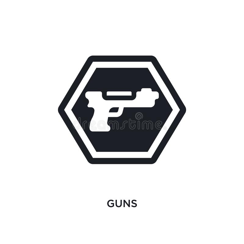 icône d'isolement par armes à feu illustration simple d'élément des icônes de concept de signes conception editable de symbole de illustration libre de droits