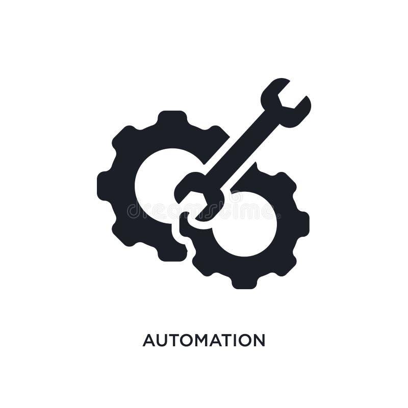 icône d'isolement par automation illustration simple d'élément des icônes futées de concept de maison conception editable de symb illustration stock