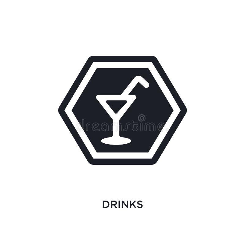 icône d'isolement par boissons illustration simple d'élément des icônes de concept de signes conception editable de symbole de si illustration stock