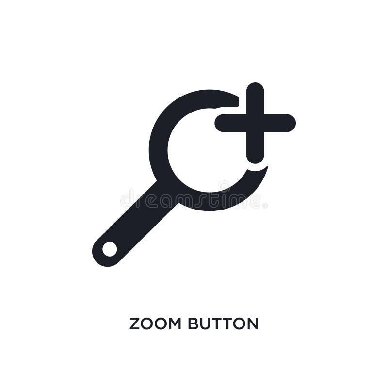 icône d'isolement par bouton de bourdonnement illustration simple d'élément des icônes finales de concept de glyphicons signe edi illustration de vecteur