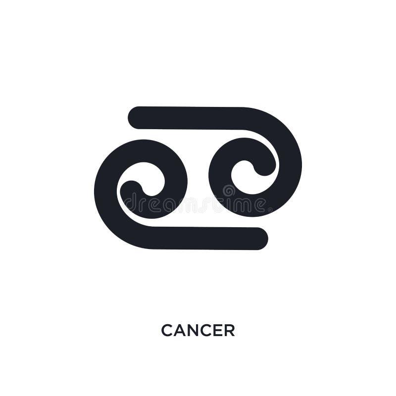 icône d'isolement par cancer illustration simple d'élément des icônes de concept de zodiaque conception editable de symbole de si illustration de vecteur