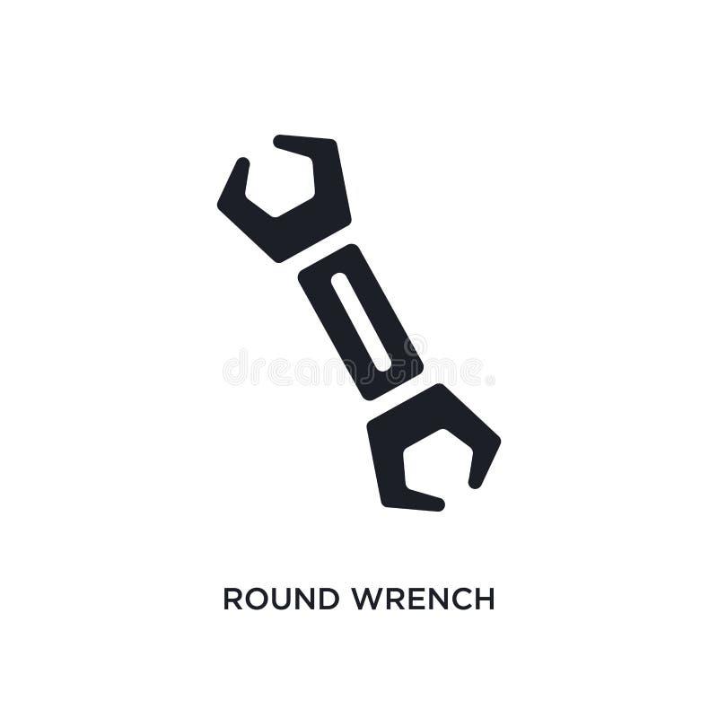 icône d'isolement par clé ronde illustration simple d'élément des icônes de concept de construction symbole editable de signe de  illustration libre de droits