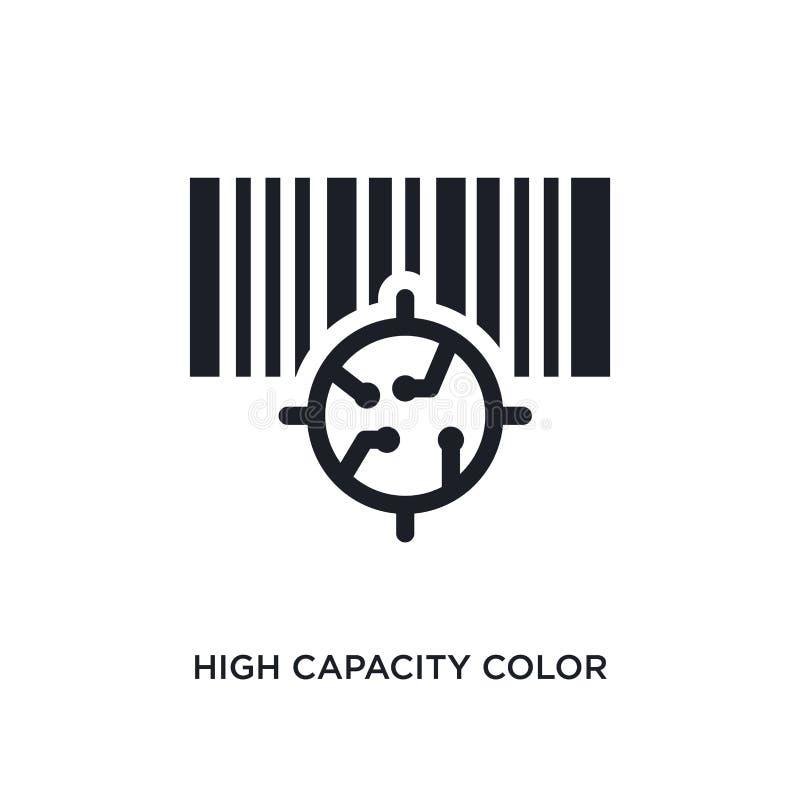 icône d'isolement par code barres de couleur de capacité élevée illustration simple d'élément des icônes artificielles de concept illustration stock