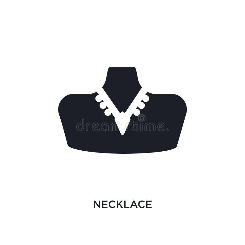 icône d'isolement par collier illustration simple d'élément des icônes de concept d'habillement de femme conception editable de s illustration stock