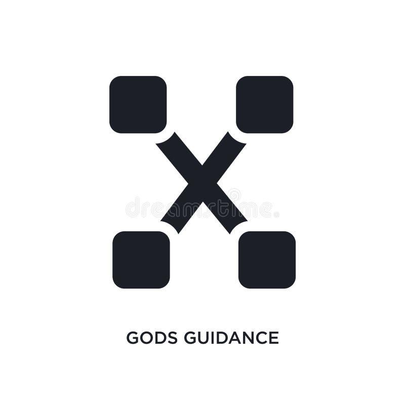 icône d'isolement par conseils de dieux illustration simple d'élément des icônes de concept de zodiaque conception editable de sy illustration stock