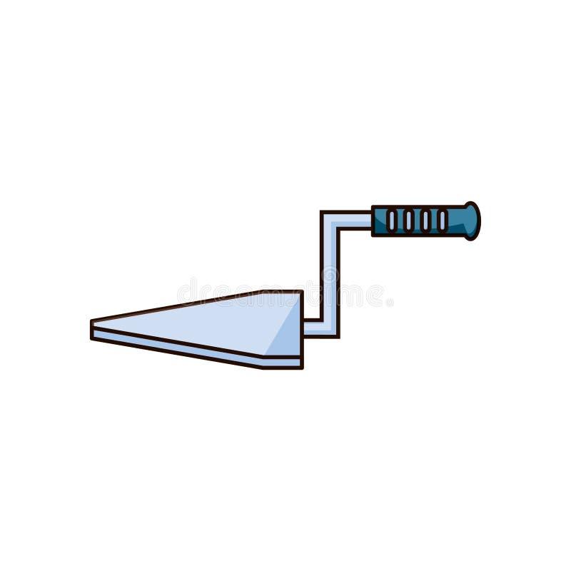 Icône d'isolement par construction de spatule illustration libre de droits