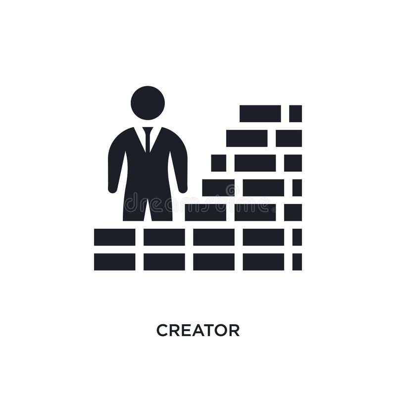 icône d'isolement par créateur illustration simple d'élément des icônes crowdfunding de concept conception editable de symbole de illustration de vecteur
