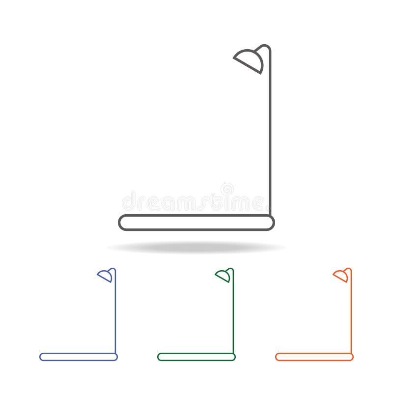 Icône d'isolement par douche L'élément de la salle de bains usine l'icône colorée multi pour les apps mobiles de concept et de We illustration libre de droits