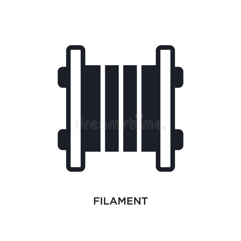 icône d'isolement par filament illustration simple d'élément des icônes du concept general-1 conception editable de symbole de si illustration stock