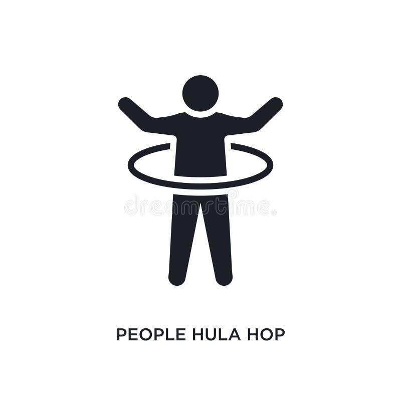 icône d'isolement par houblon de danse polynésienne de personnes illustration simple d'élément des icônes récréationnelles de con illustration de vecteur