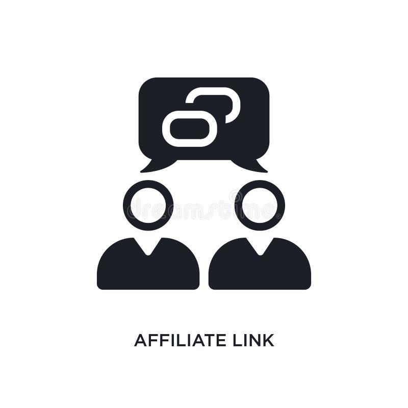 icône d'isolement par lien de filiale illustration simple d'élément des icônes du concept general-1 symbole editable de signe de  illustration de vecteur