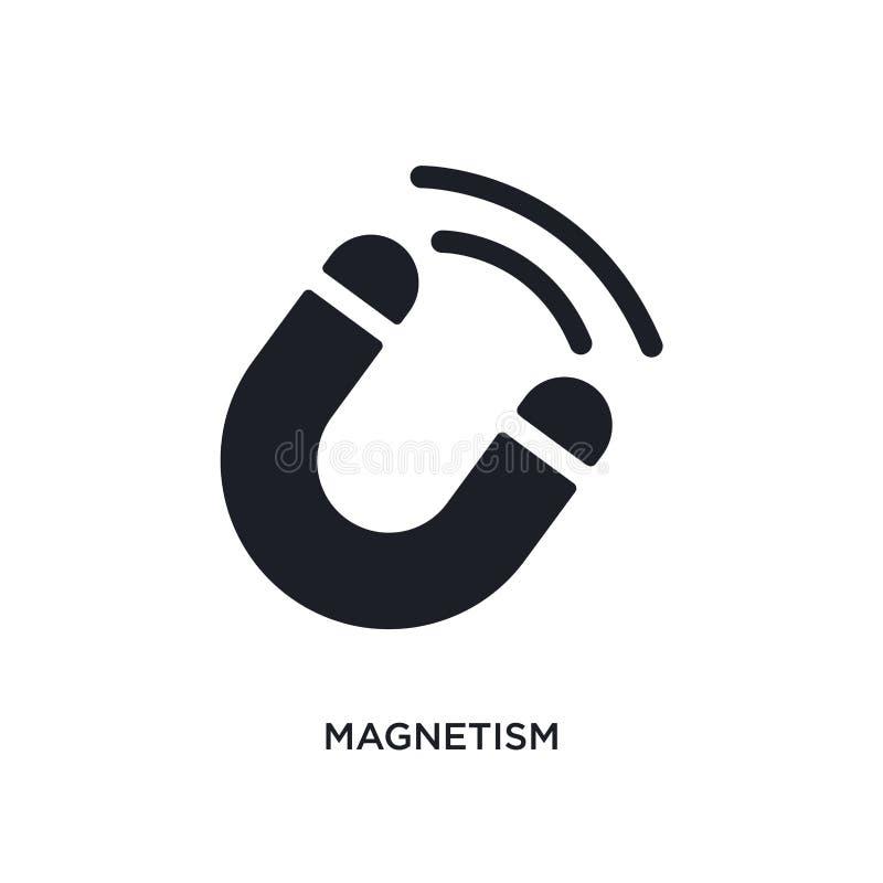 icône d'isolement par magnétisme illustration simple d'élément des icônes de concept de la science conception editable de symbole illustration de vecteur