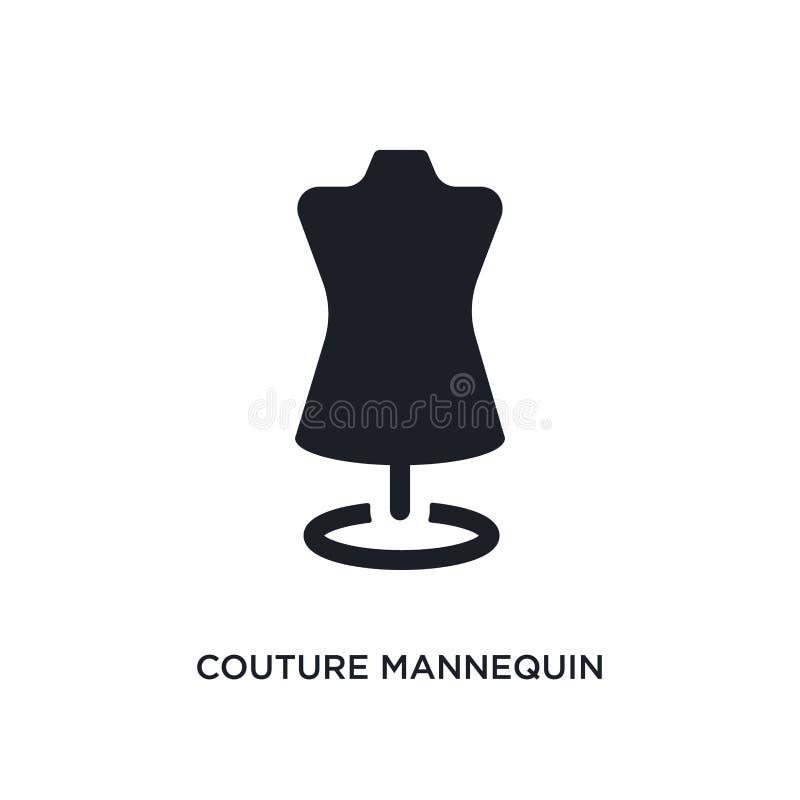 icône d'isolement par mannequin de couture illustration simple d'élément des icônes de concept d'habillement de femme logo editab illustration libre de droits