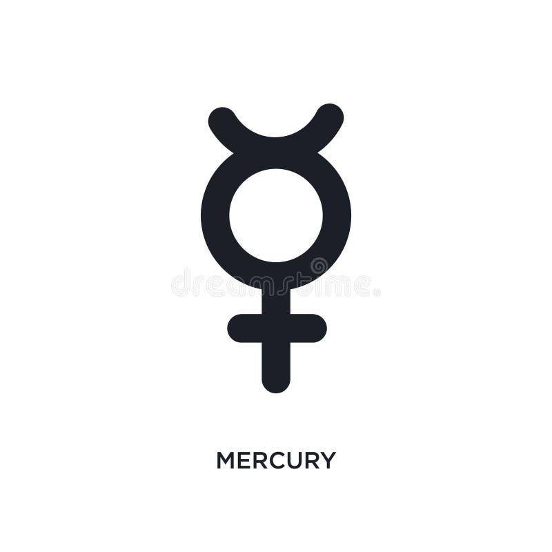 icône d'isolement par mercure illustration simple d'élément des icônes de concept de zodiaque conception editable de symbole de s illustration de vecteur
