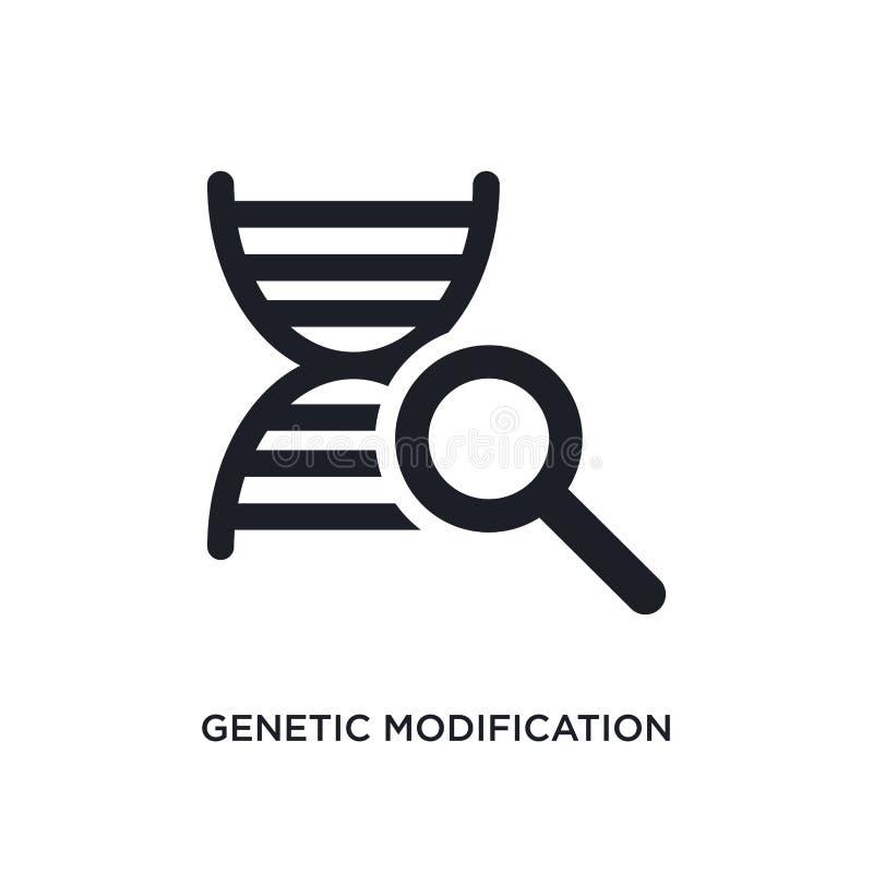 icône d'isolement par modification génétique illustration simple d'élément des icônes artificielles de concept d'intellegence Mod illustration stock