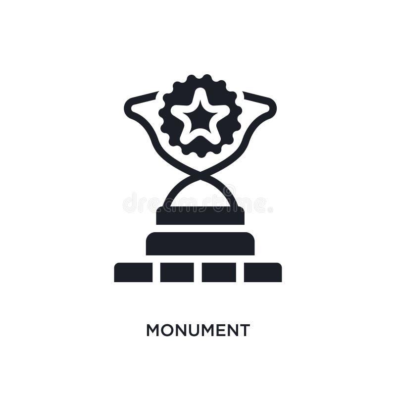 icône d'isolement par monument illustration simple d'élément des icônes de concept de succès conception editable de symbole de si illustration de vecteur