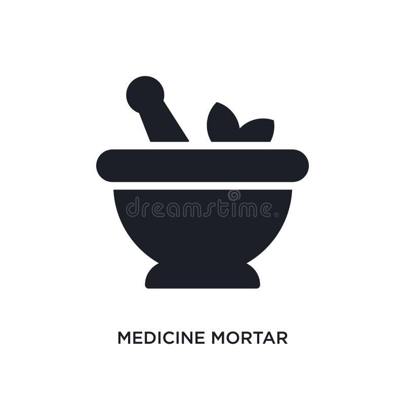 icône d'isolement par mortier de médecine illustration simple d'élément des icônes finales de concept de glyphicons logo editable illustration de vecteur