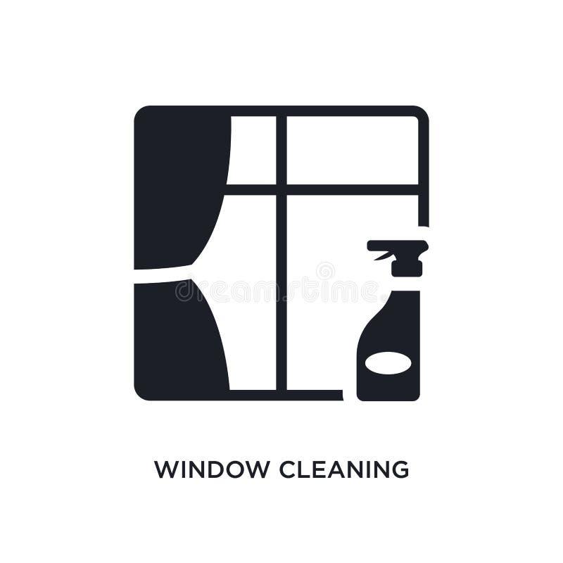 icône d'isolement par nettoyage de vitres illustration simple d'élément des icônes de nettoyage de concept symbole editable de si illustration libre de droits