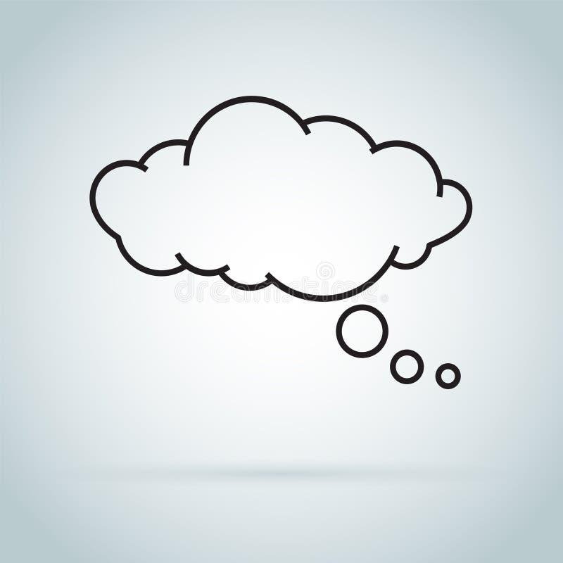 Icône d'isolement par nuage rêveur Bulle de la parole de rêver l'icône d'isolement sur le fond illustration libre de droits