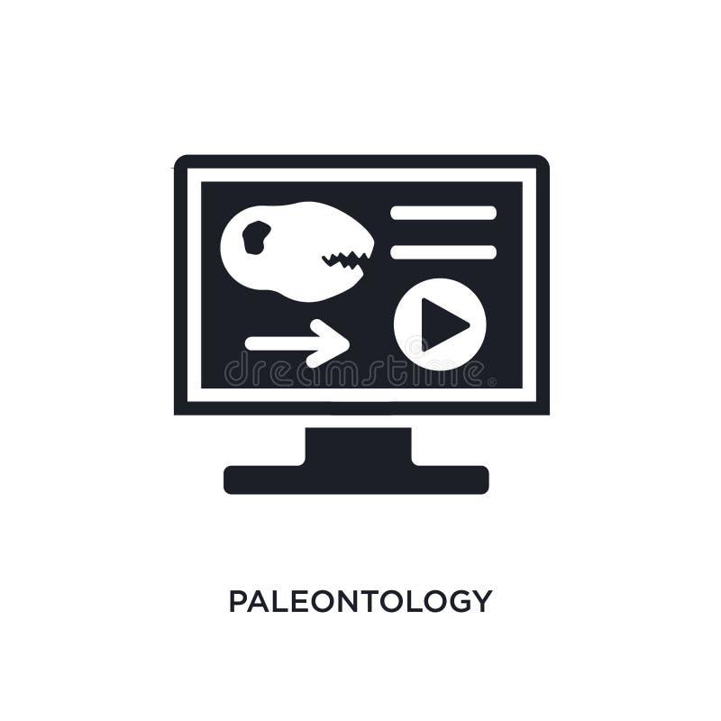 icône d'isolement par paléontologie illustration simple d'élément des icônes de concept d'apprentissage en ligne et d'éducation l illustration de vecteur