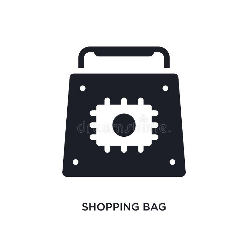 Icône d'isolement par panier illustration simple d'élément des icônes de concept d'intelligence artificielle logo editable de sac illustration libre de droits