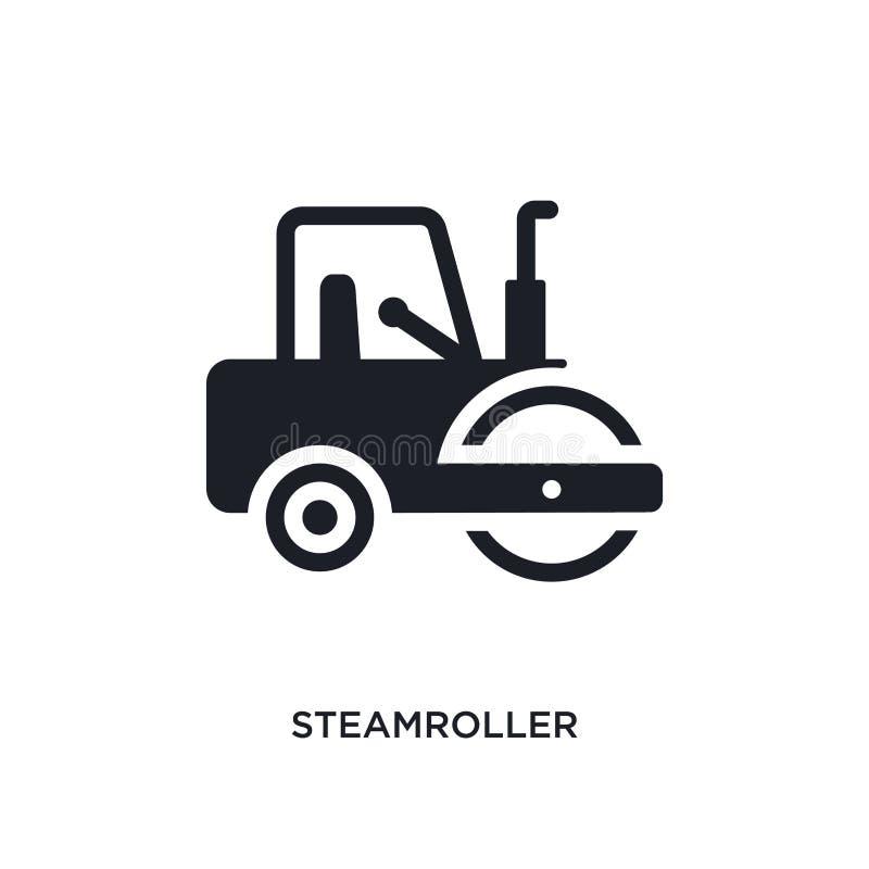 icône d'isolement par rouleau compresseur illustration simple d'élément des icônes de concept de construction symbole editable de photographie stock libre de droits