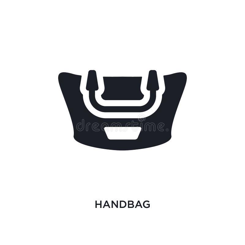 icône d'isolement par sac à main illustration simple d'élément des icônes de luxe de concept conception editable de symbole de si illustration de vecteur