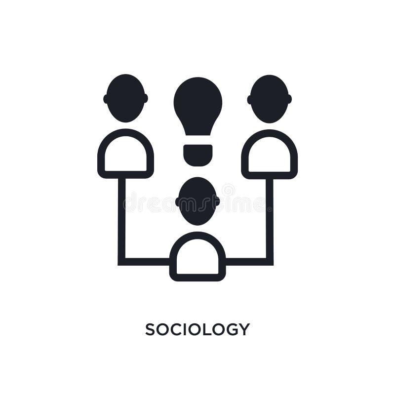 icône d'isolement par sociologie illustration simple d'élément des icônes de concept d'apprentissage en ligne et d'éducation sign illustration de vecteur