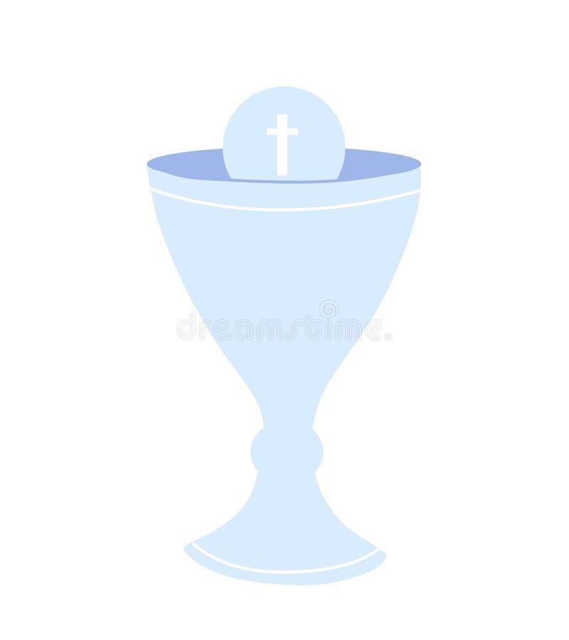 Icône d'isolement par tasse de communion Symbole chr?tien Rites de l'église catholique illustration libre de droits