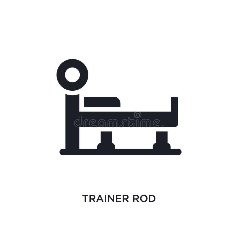 icône d'isolement par tige d'entraîneur illustration simple d'élément des icônes de concept de gymnase et de forme physique symbo illustration stock