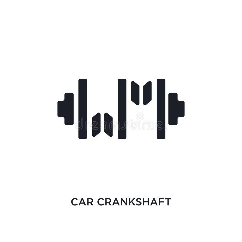 icône d'isolement par vilebrequin de voiture illustration simple d'élément des icônes de concept de pièces de voiture symbole edi illustration stock