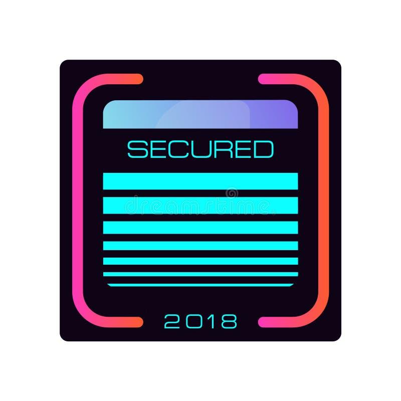Icône d'isolement simple de vecteur de carte de crédit de sécurité Serrure de salaire Icône de banque sûre Sécurité, carte et De  illustration de vecteur