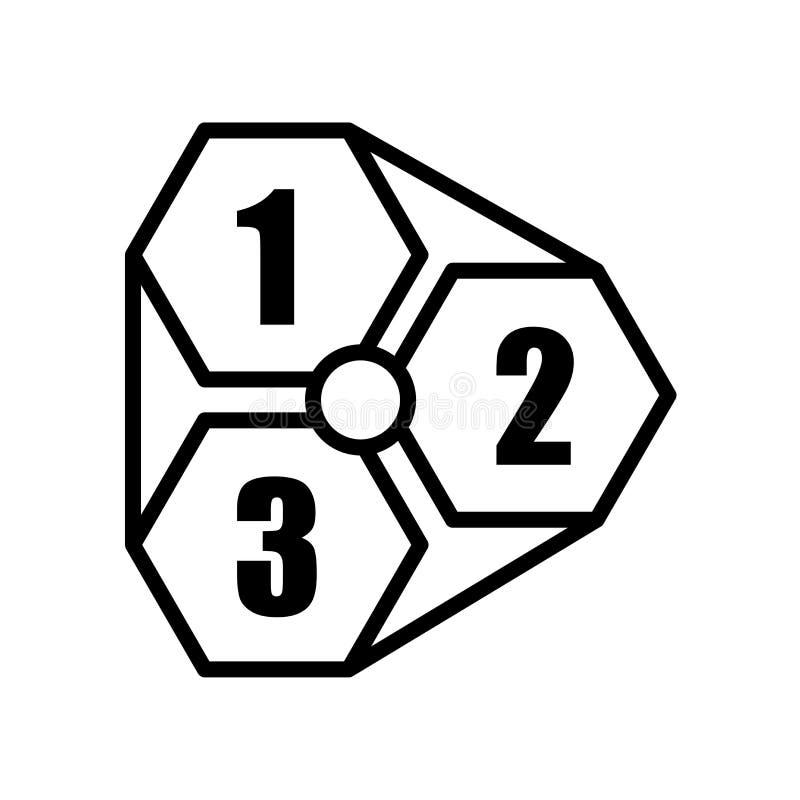 icône 123 d'isolement sur le fond blanc illustration stock