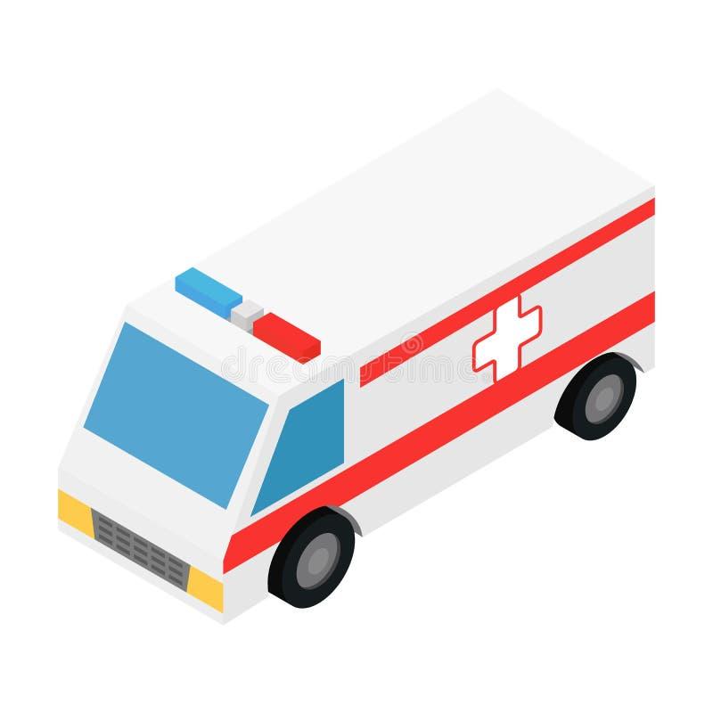 Icône 3d isométrique d'ambulance illustration libre de droits