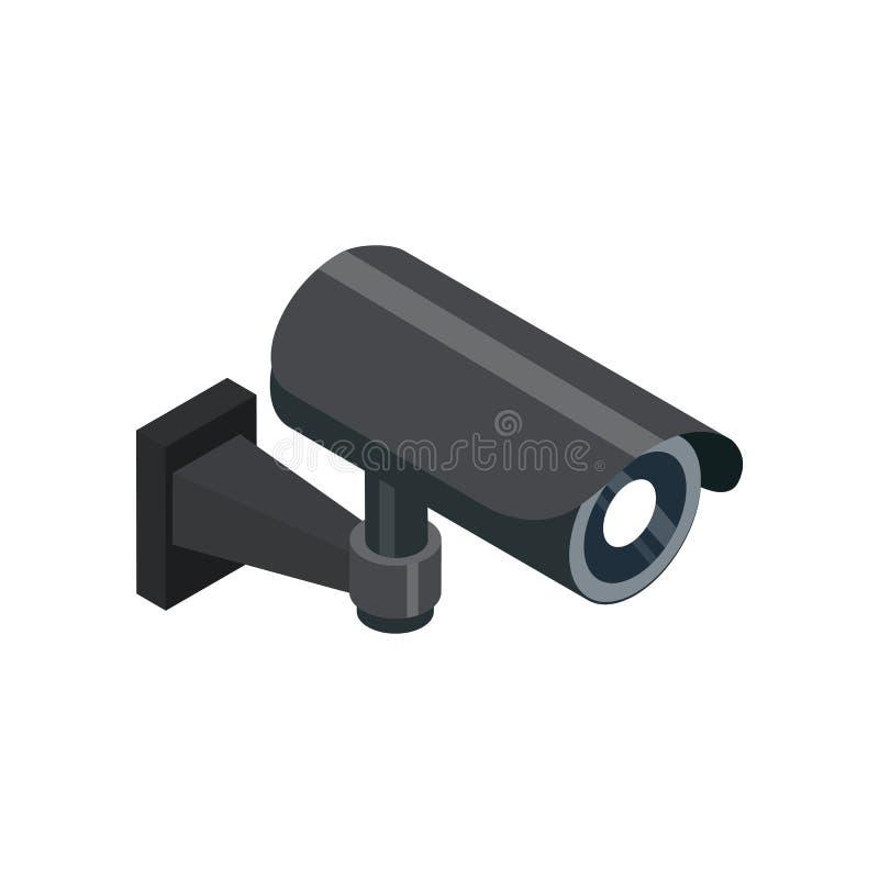 Icône 3D isométrique de vidéo surveillance illustration stock
