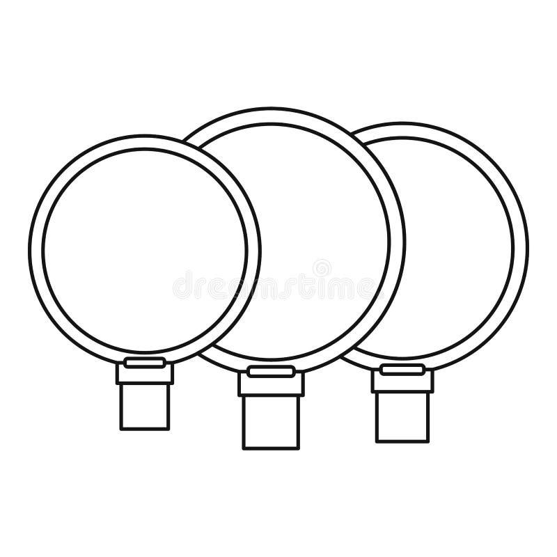 Icône d'objectifs de caméra, style d'ensemble illustration libre de droits