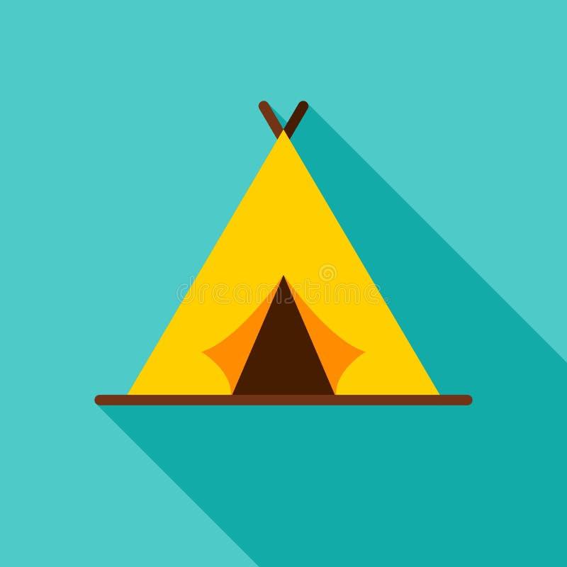 Icône d'objet de tente de camping illustration de vecteur