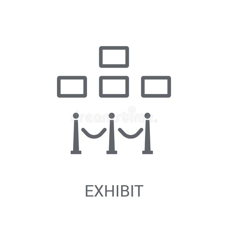 Icône d'objet exposé  illustration de vecteur