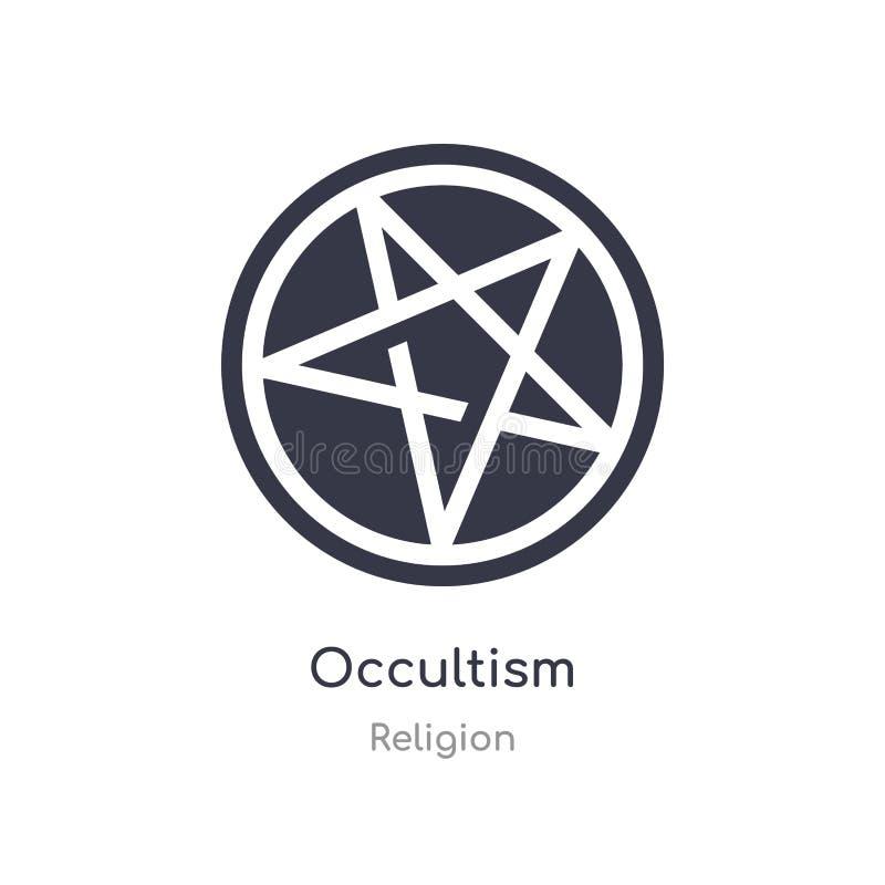 icône d'occultisme illustration d'isolement de vecteur d'icône d'occultisme de collection de religion editable chantez le symbole illustration de vecteur