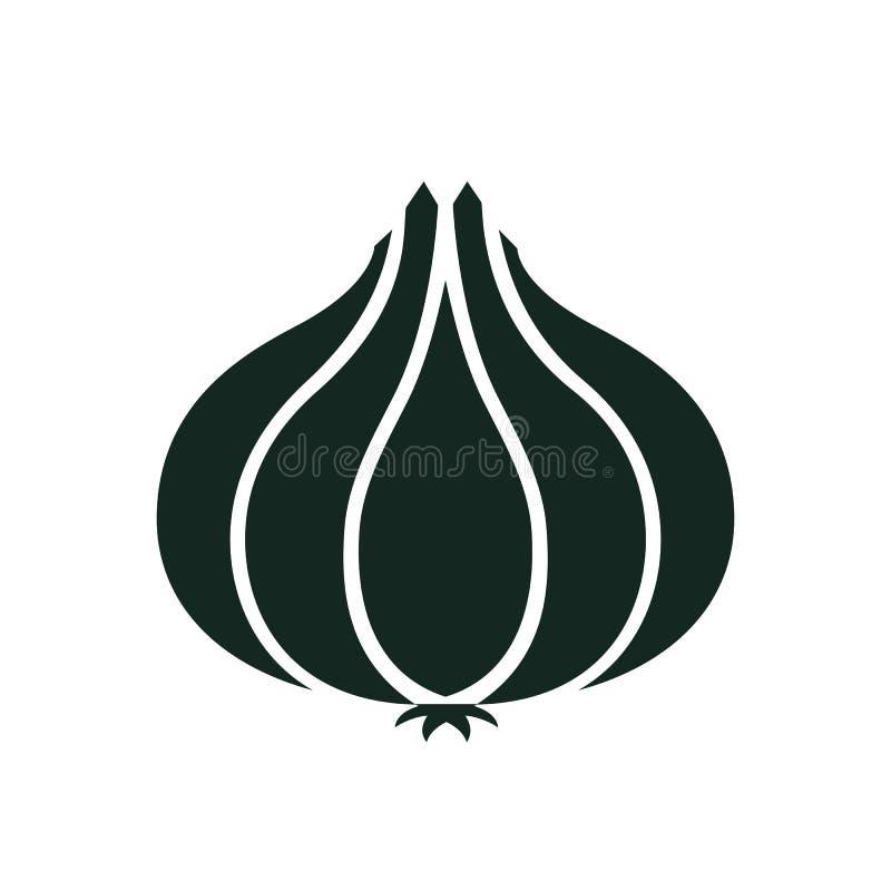 Icône d'oignon - vecteur courant illustration libre de droits