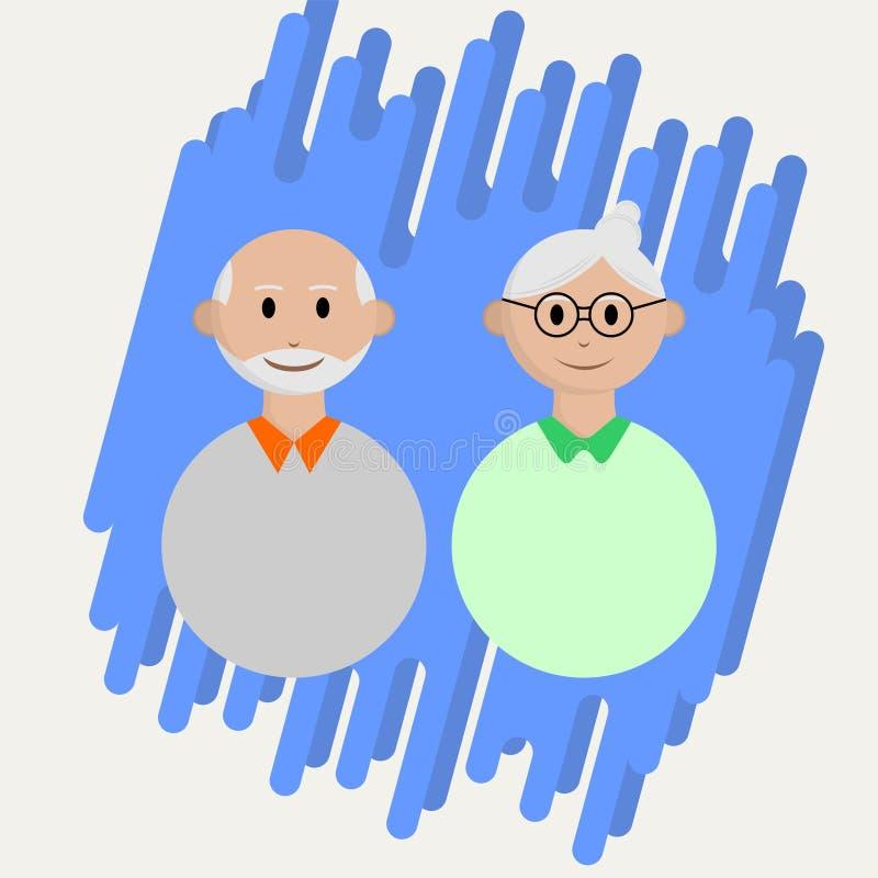 Icône d'oldman de personnes illustration de vecteur
