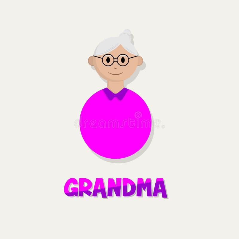 Icône d'oldman de personnes illustration libre de droits