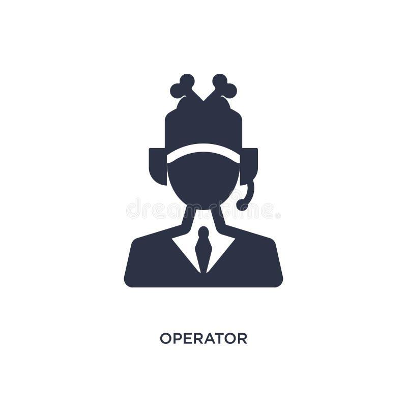 icône d'opérateur sur le fond blanc Illustration simple d'élément de concept d'aliments de préparation rapide illustration libre de droits