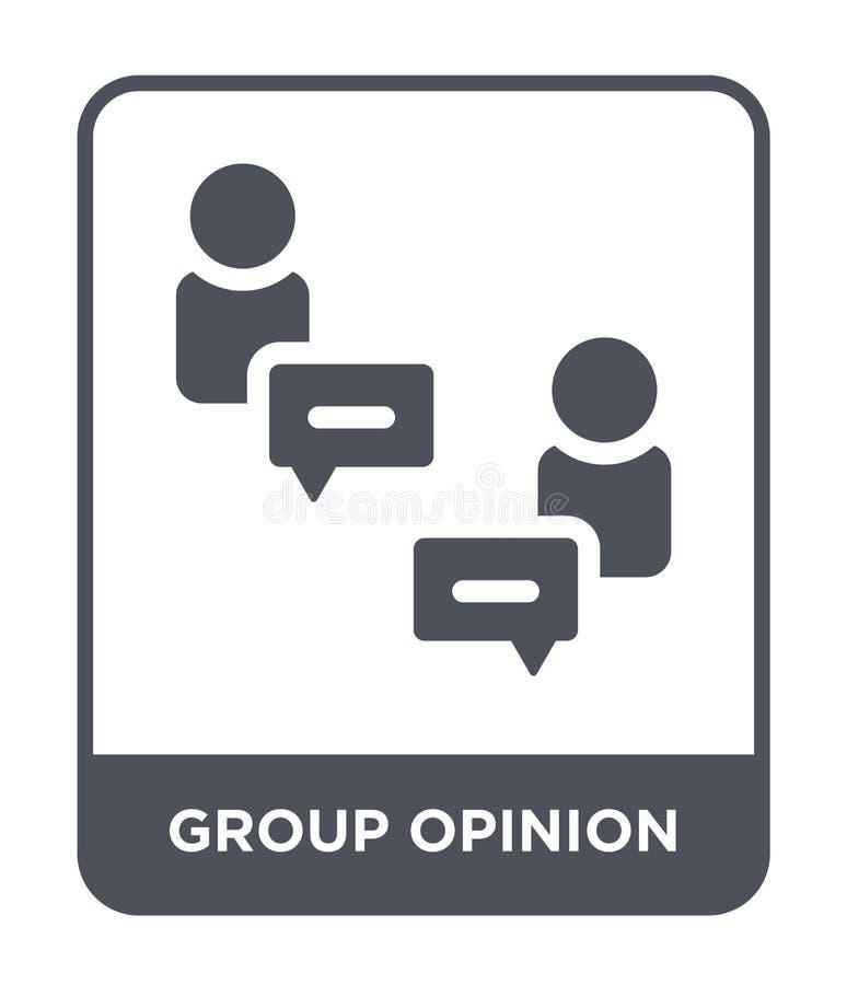 icône d'opinion de groupe dans le style à la mode de conception icône d'opinion de groupe d'isolement sur le fond blanc icône de  illustration de vecteur